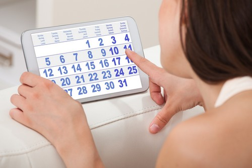 Женщина и календарь менструации